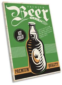 Premium-Beer-Retro-Kitchen-Framed-CANVAS-PRINT-Portrait-Wall-Art
