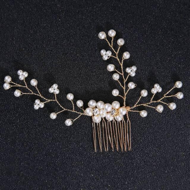 1PC Fashion Wedding Hair Accessories Pearl Crystal Flower Bridal Hair Combs