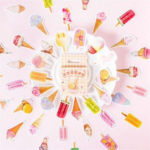 46pcs Summer Ice Creams Stickers Kawaii DIY Decoration Self Adhesive Gift Tags
