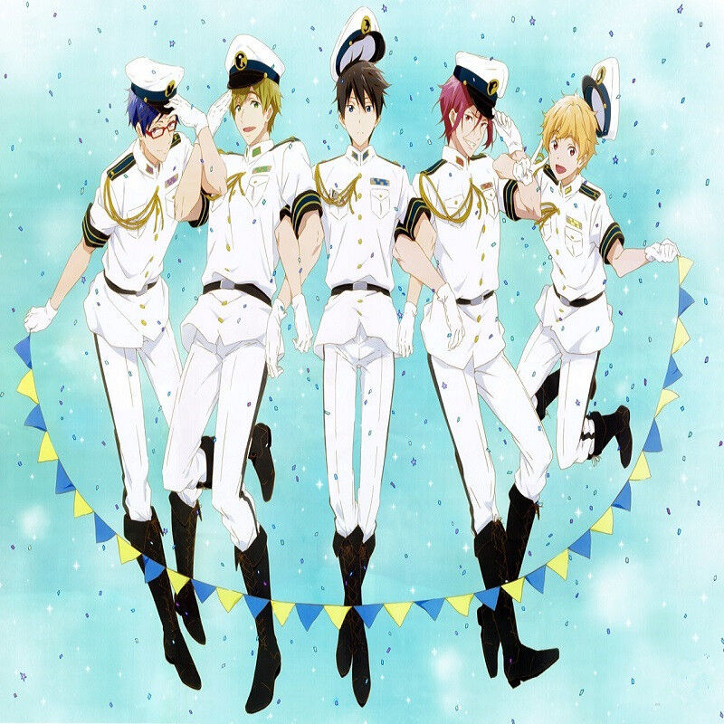 Eternal Summer Rin Matsuoka White Navy Uniform Cosplay Costume 5 Roles Free Clothing Shoes Accessories Costumes May add gel or glue to get a more accurate style. apsme アプセム 一般社団法人 中小企業アジアビジネス促進協議会