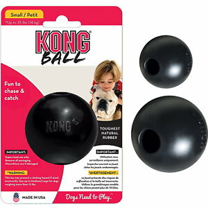 KONG-Extreme-Ball-Dog-Puppy-Black-Interactive-Play-Tough-Rubber-Chew-Toy-2-Size