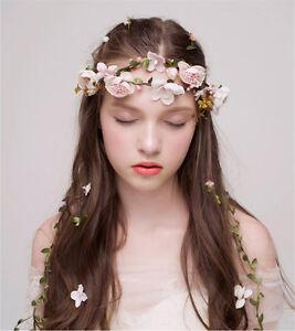 Image Is Loading Boho Fl Flower Crown Headband Hair Garland Wedding