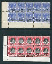 1945/48 BMA Malaya O/P S.S. KGVI 15c & $1  Stamps in Block of 10 MNH U/M