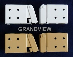 Window Venetian Blind Installation / Mounting Bracket Set Metal For Low Profile