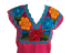 Floral-Mexican-Blouse-Embroidered-Made-in-Mexico-Handmade-Cotton-Pink thumbnail 9