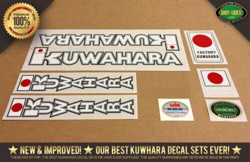 100/% Factory Correct! 1982 White Kuwahara KYZ BMX Decal Set