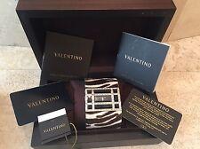 VALENTINO ZEBRA PRINT PONY HAIR & CRYSTAL WATCH W/ BOX & PAPERS- STUNNING!