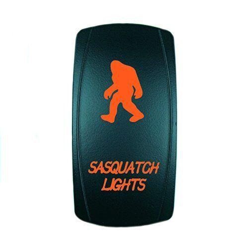 ROCKER SWITCH LED SASQUATCH LIGHTS ON//OFF ATV UTV OFF-ROAD PICKUP ORANGE LIGHTED