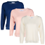 Blu-Cherry-Girls-Women-039-s-Crew-Round-Neck-knitted-Pullover-Jumper-Cashmere-Like thumbnail 2