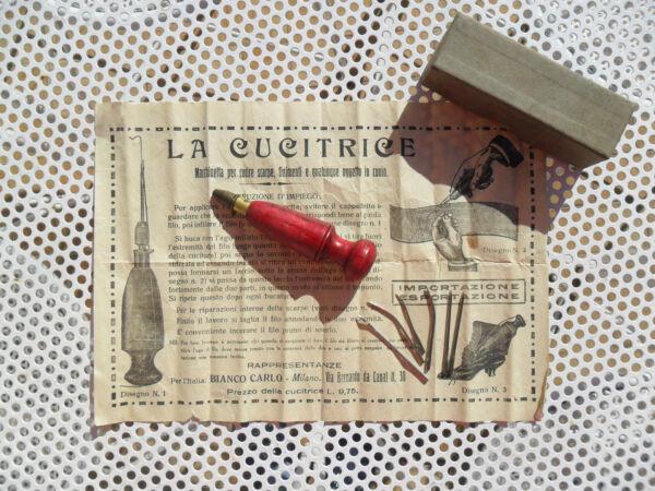 Antica Macchinetta Manuale Macchina Da Cucire A Mano Cucitrice Punteruolo Xcuoio
