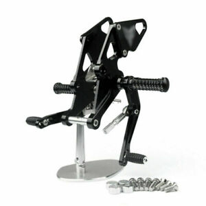 Black Rear Sets Footpegs Footrest Fit for Yamaha MT07 MT-07 FZ07 2014-2020