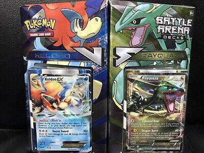 Pokemon XY Battle Arena Decks:-Keldeo EX Vs. Rayquaza Ex ...