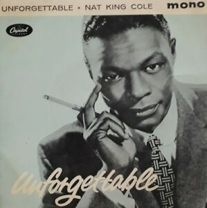 Nat-King-Cole-Unforgettable-Vinyl-7-034-EP-Single-1960-Capitol-EAP-20053-Mona-Lisa
