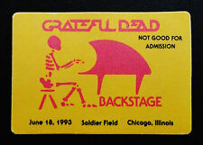 Grateful Dead Backstage Pass Chicago Bears Soldier Field Illinois 6/18/1993 IL
