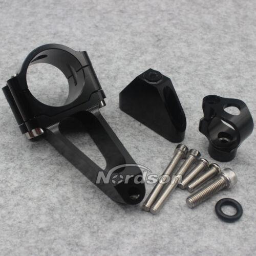 Black CNC Steering Damper Mounting Bracket Kit For Honda CBR600 F4i 2001-2007