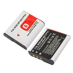 2 Np Bg1 Np Fg1 Battery Type G For Sony Cybershot Npbg1 Ebay