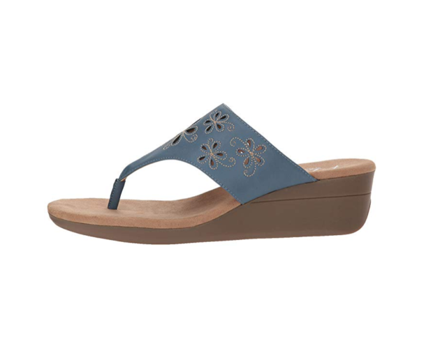 b07f1e746946 Aerosoles A2 by Women s Air Flow Wedge Sandal Chambray Blue Combo 9.5 M US  for sale online