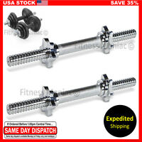 """Authentic Dumbbell Bar Pair 14"""" Workout Weights Lifting 14inch Dumbbells Sport"""