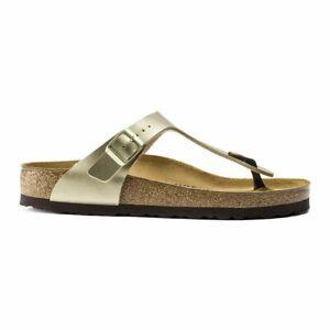 Birkenstock Gizeh Birko-Flor Sandals - Regular Women's - Gold