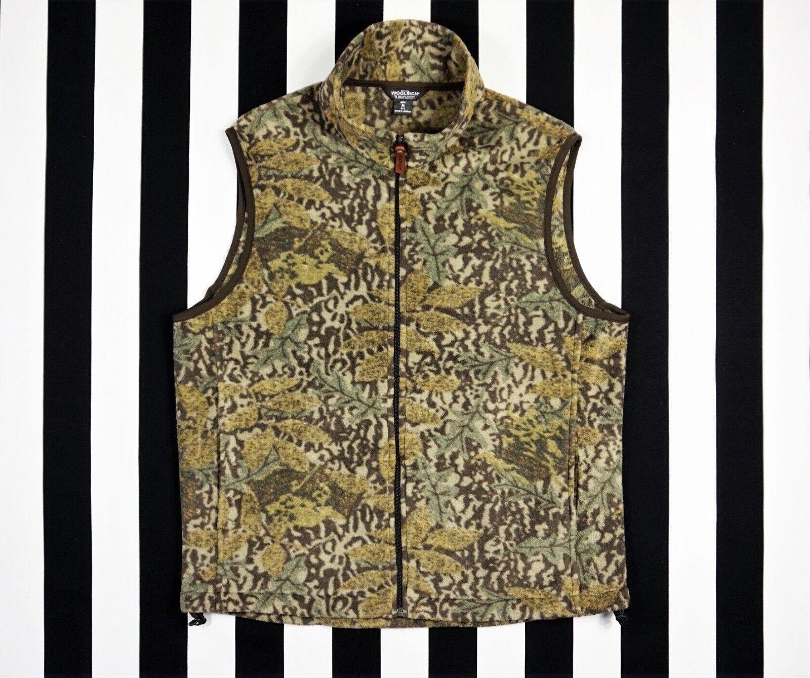 WOOLRICH Men's Full Zip Fleece Camouflage Hunting Vest size Medium