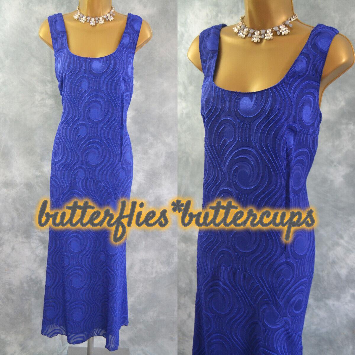 ~ WINDSMOOR ~ Size 16 BNWT Blue Devore Long Dress Suit Mother of the Bride
