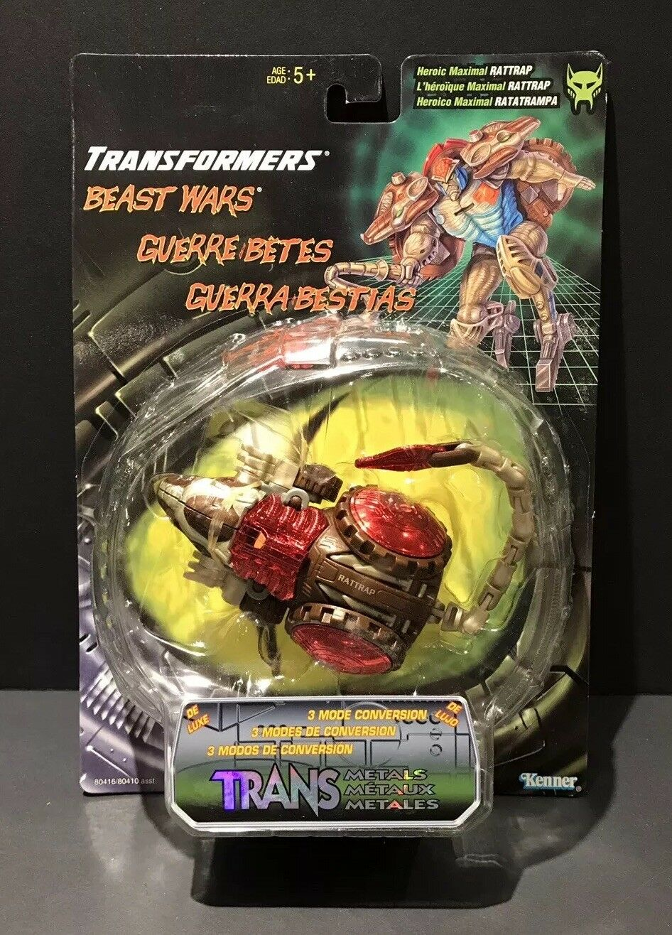 Transformers Kenner Beast Wars transmetals Rattrap maximale Figure Comme neuf on Card