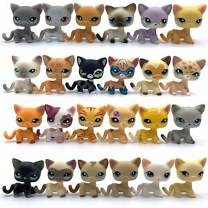 10pcs Lps Toys Pet Shop Cats Lot Short Hair Cat Send Random Girls Toy Ebay