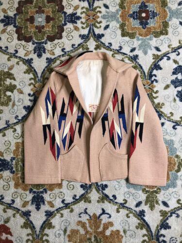 Vintage Chimayo Jacket Parka Hand Woven 100% Wool
