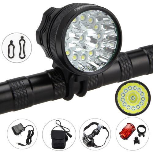 Waterproof 40000LM 14 x XM-L T6 LED 6 x 18650 Bicycle Cycling Head Light Lamp