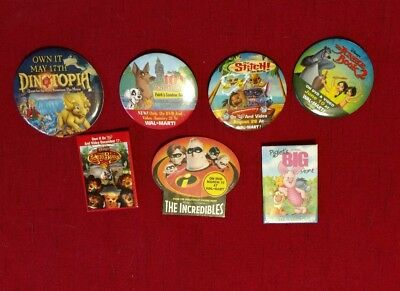 Disney Movie Button Pins Walmart Promotional Collectible LOT of 7 (#3) |  eBay