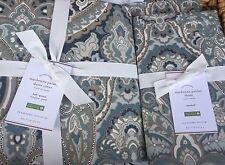 Pottery Barn Mackenna BLUE Paisley Full/Queen Duvet & Two Standard Shams NWT