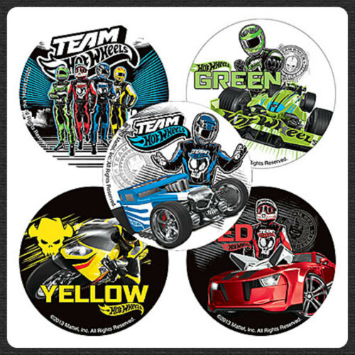 Birthday Favours Hot Cars Racing Party Favour Hot Wheels Team Stickers x 5