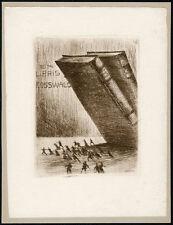Exlibris Radierung von ARTHUR HENNE (Dresden) 1920