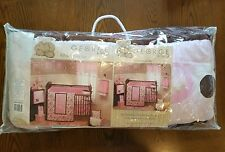George Baby Uptown Baby Girl Pink & Brown 9 Piece Crib Bedding Set