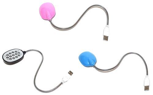 USB Lumière Lampe Lampadaire Liseuse 13 DEL'S Souple Pour Bureau PC Ordinateur Portable Adaptateur