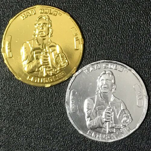 Star Wars 30th Han Solo Gold /& Silver Coin Lot contrebandier Millennium Falcon pilote