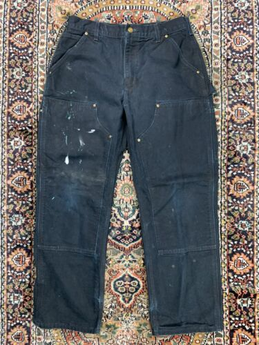 Vtg Carhartt Double Knee Work Pants Size 33x30 Mad