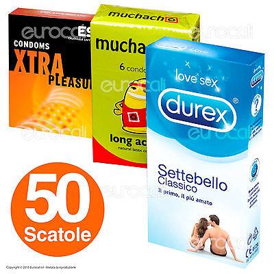 50 Scatole di Preservativi a Scelta DUREX ESP Muchacho Profilattici Misti