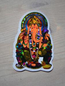 Aufkleber-goa-psy-hippie-Gluck-Ganesha-Ganesh-sticker-indien-India-inde-elefant