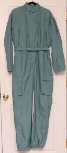 Vintage Womens Obermeyer Green Nylon Belted Jumpsu