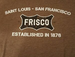 Ringaboy-Mens-T-Shirt-Frisco-Railroad-New-With-Tags-Size-XL