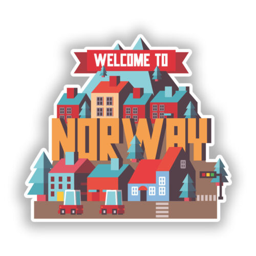 2 x Welcome to Norway Vinyl Stickers Travel Luggage #10382