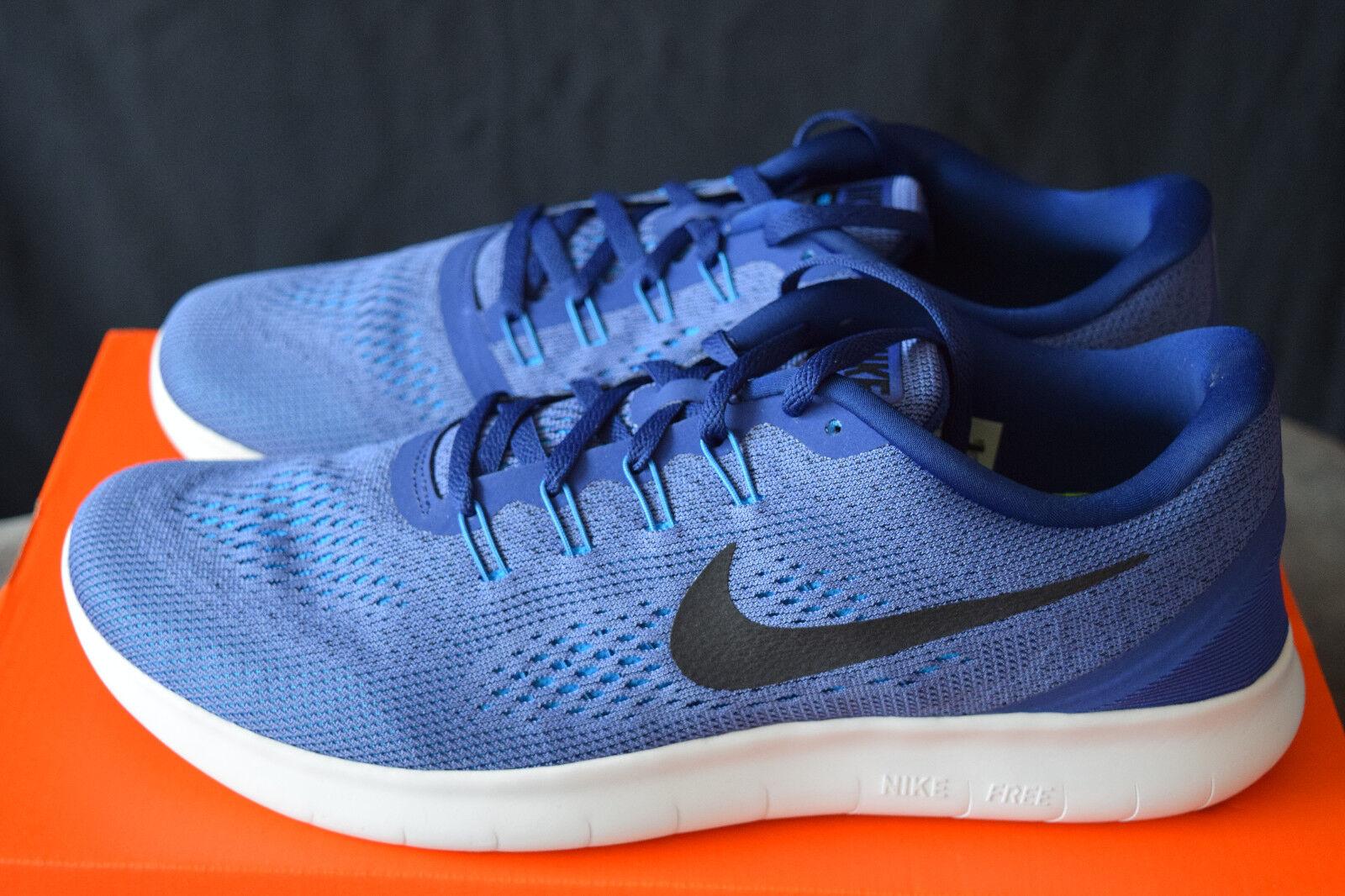 New Nike Free RN Mens Premium Running Shoes Sz 12 Purple Dust Black White