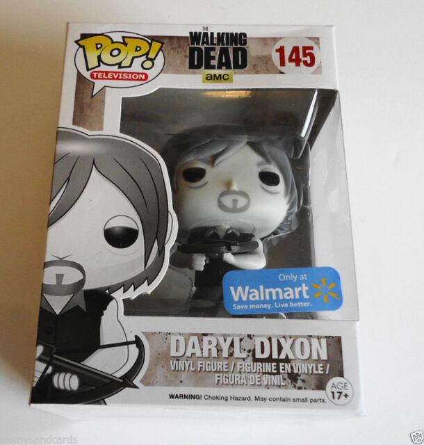 7ba9fdebce3 Funko Pop The Walking Dead Black   White Daryl Dixon Walmart Exclusive New