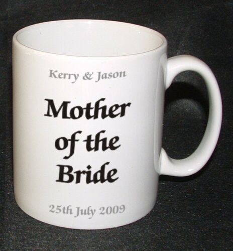 PERSONALISED FATHER OF THE BRIDE WEDDING FAVOUR MUG GIFT PRESENT