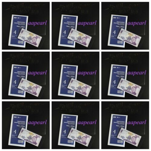 10 Bundle 7X16cm Currency Sleeves Holders Banknotes Bills Collections pouch 4#