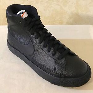 Youth-Nike-Blazer-Mid-GS-lifestyle-Shoes-Sneaker-Leather-Black-895850-001