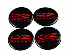 4 x Sticker O.Z Racing Black Red Style Wheel Center Hub Caps Badge Emblem 57mm