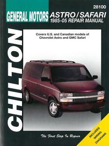 Automobilia Chevrolet Astro & Gmc Safari Reparaturanleitung/reparatur-buch Sachbücher Gelernt Chilton Handbuch