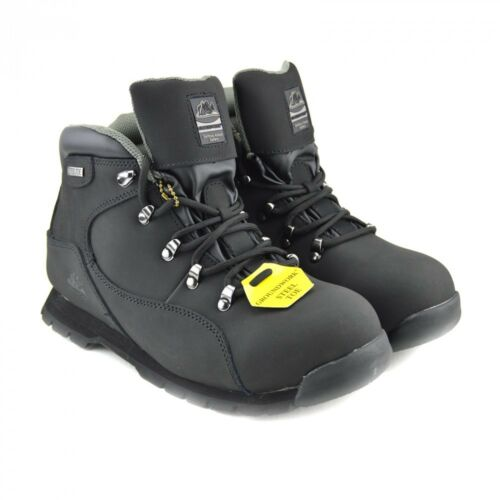 Ppe Mens Walking Size Groundwork Walking in Leather Punta Trail Safety Boots acciaio qv6qHr